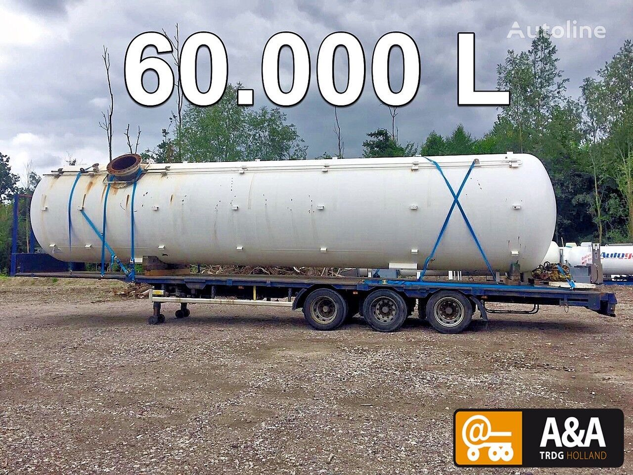 Propane Butane LPG GPL gastank gaz 60.000 L gas tank trailer