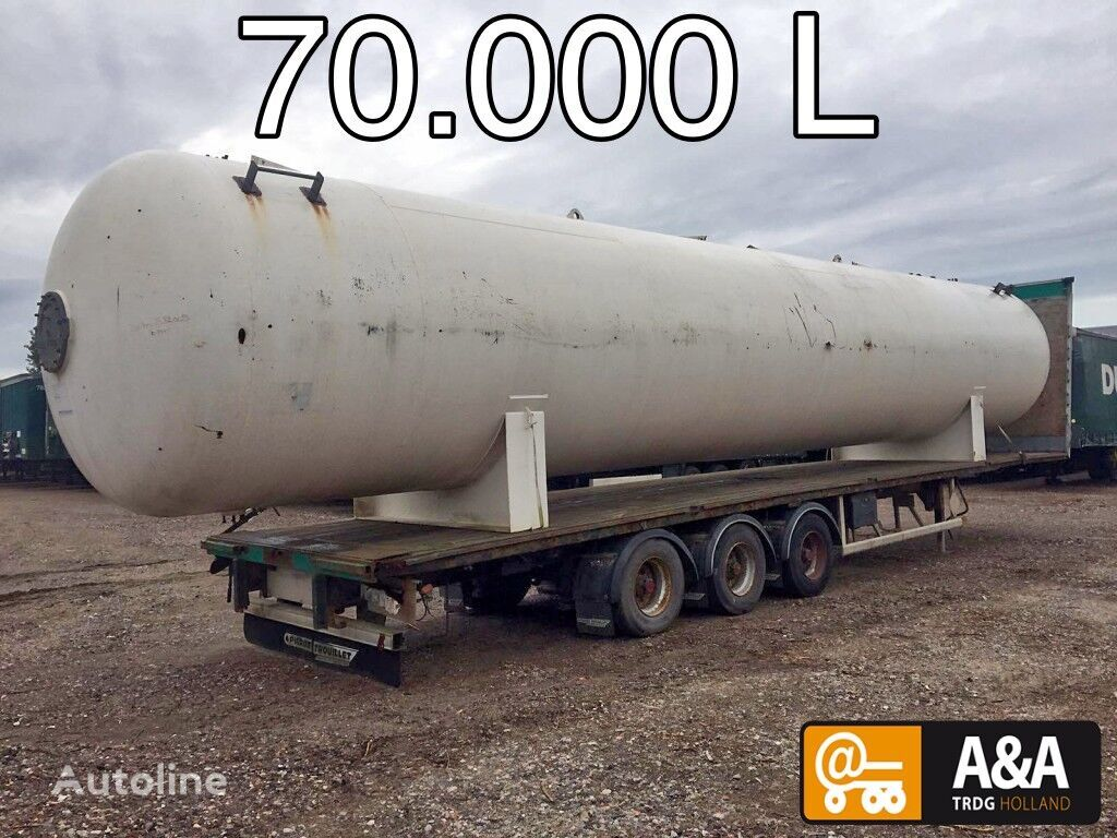 Propane Butane LPG GPL gastank gaz 70.000 L gas tank trailer